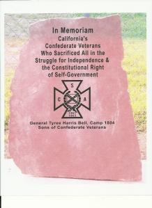 CA Confederate Veterans memorial