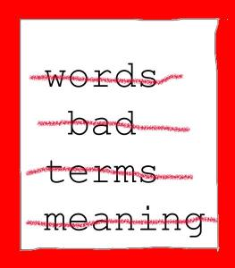 Art - blog photo negative words