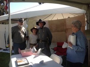 Family - Richard - Evan - Papa -  at Kearney SCV booth Oct 18 - 2014