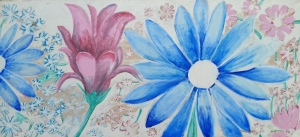 Art - Debby's Flower Painting  73 canvas cropped for poem illustration July 2016
